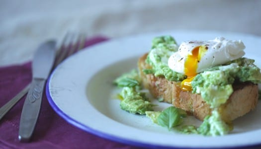 Recipe: Avocado Goats Cheese Smash with a Poached Egg