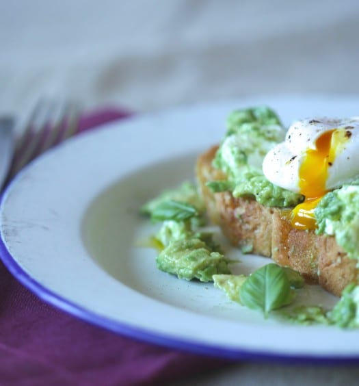 avocado poached eggs