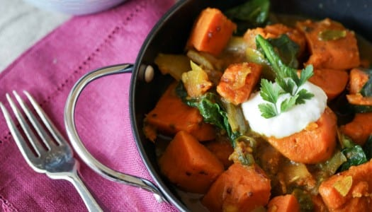 Recipe: Sweet Potato and Spinach Curry