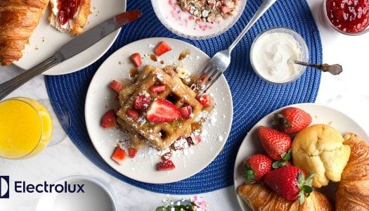 Recipe: Steam Baked Strawberry Waffles
