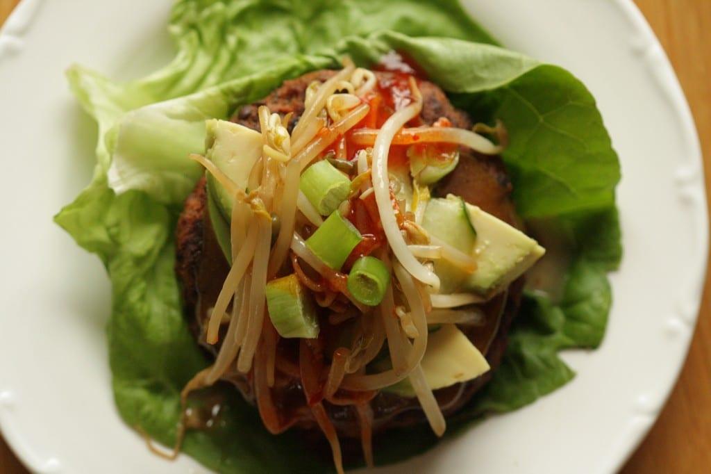 asian style veggie burger