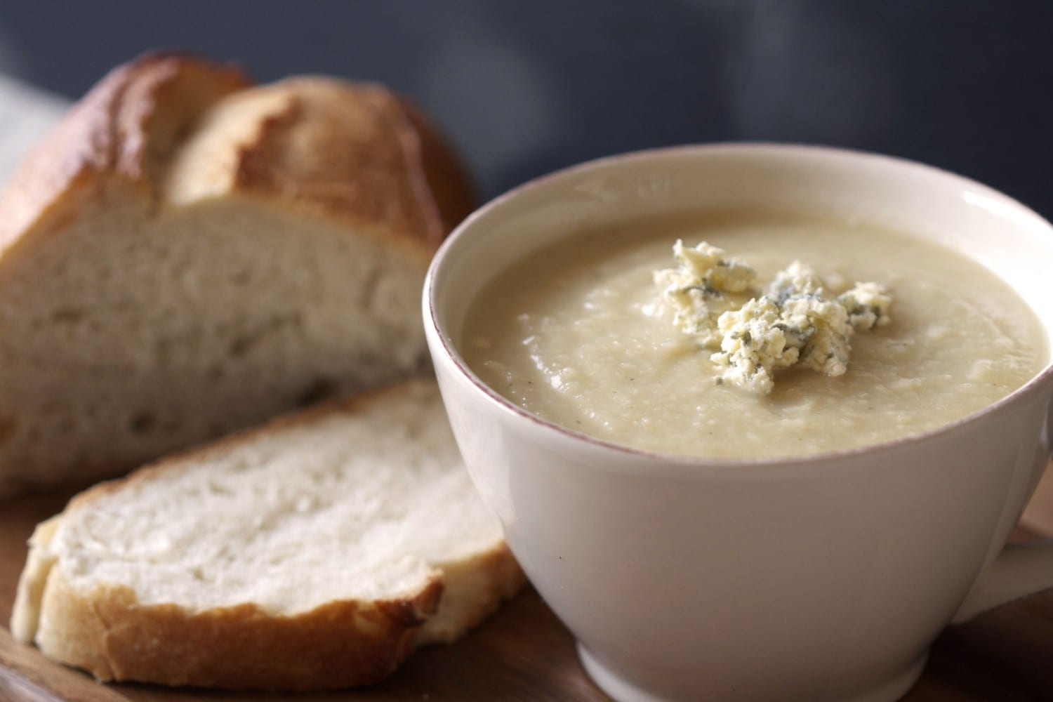 celeriac and blue cheese soup