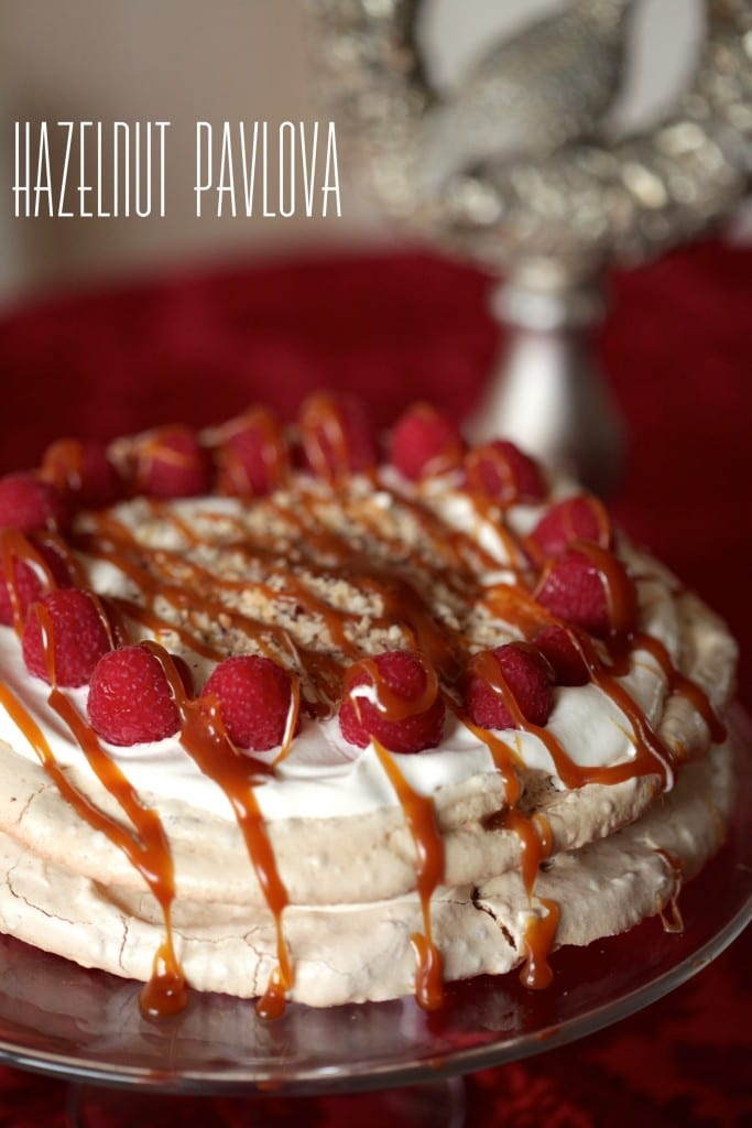 Hazelnut Pavlova recipe