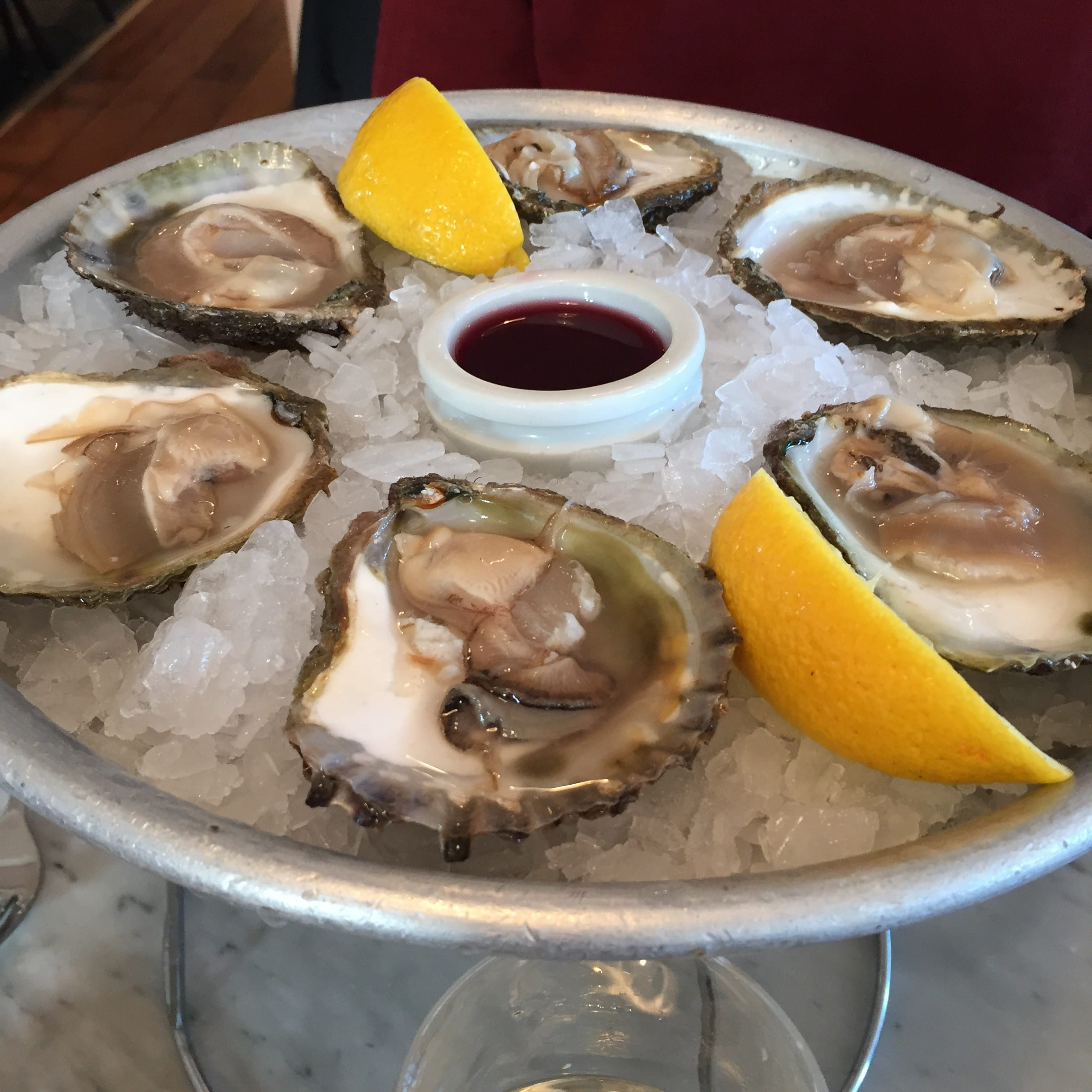 oysters at Ivans Howth