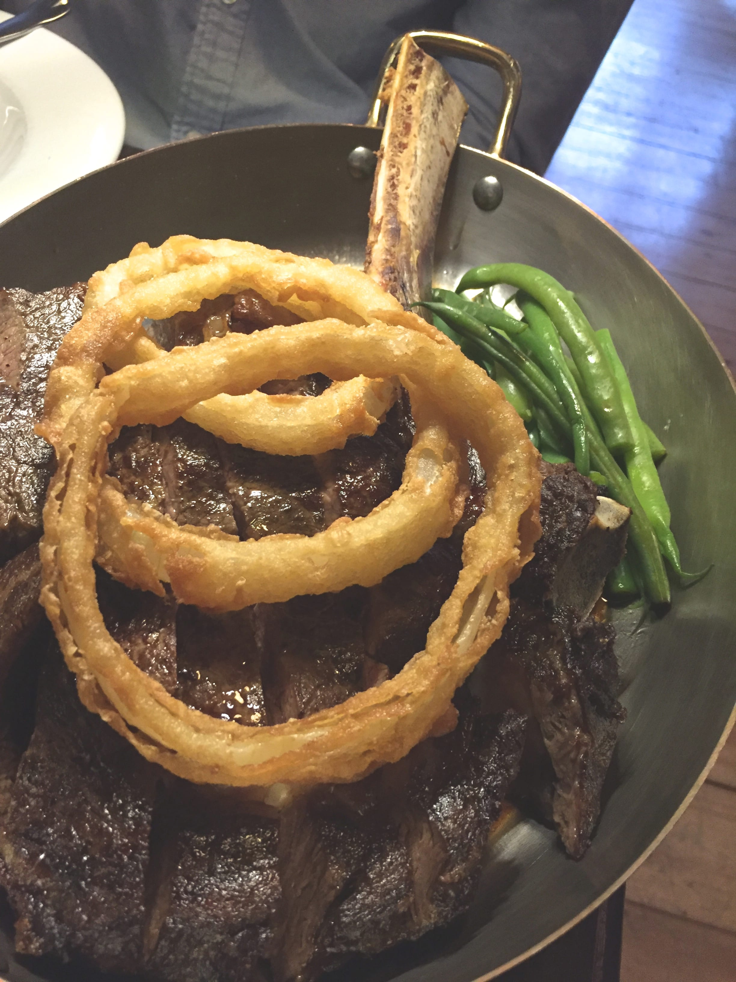 Our HUGE tomahawk steak!