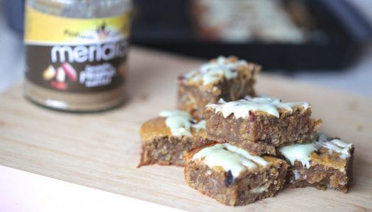 Peanut Butter & White Chocolate Blondies (Gluten Free)